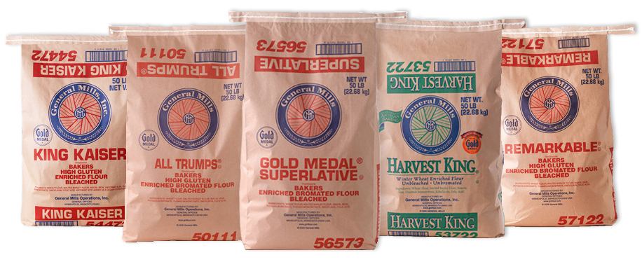 All Trumps High Gluten Flour by General Mills - 50 lbs
