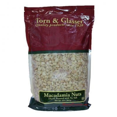 Torn & Glasser Macadamia Nuts Diced Roasted No Salt 32oz
