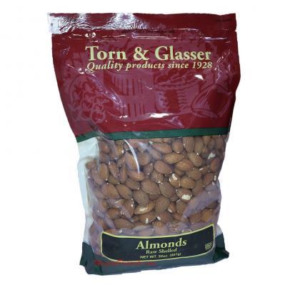 Torn & Glasser Raw Shelled Almonds 32oz